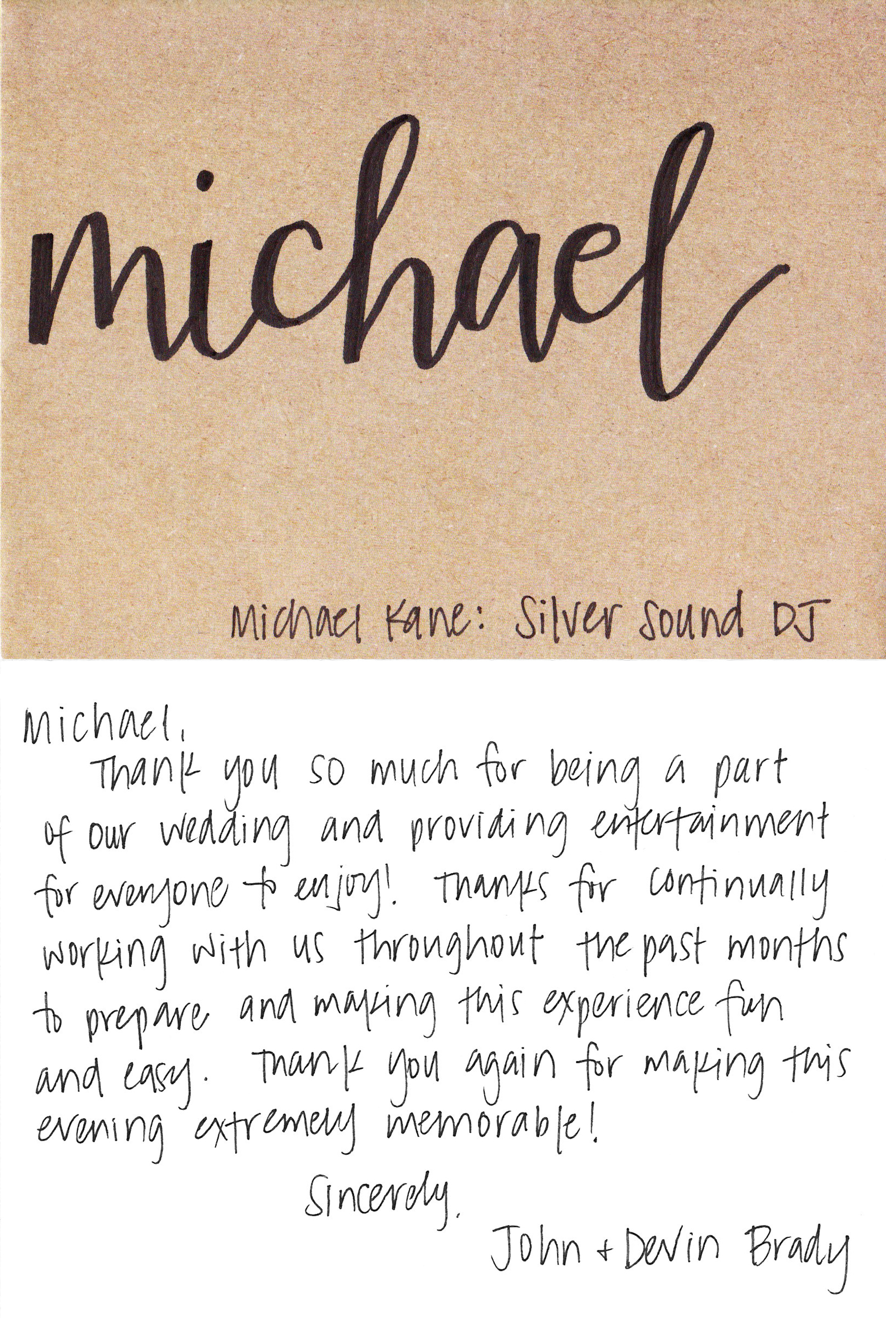 Silver Sound DJS Philadelphia DJ MICHAEL KANES RESUME - Country house at bluestone wedding